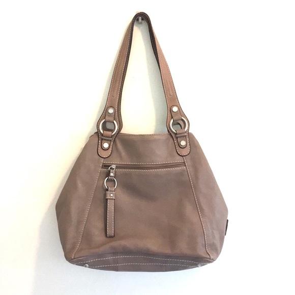 Tignanello Handbags - Tignanello leather handbag gray-ish large EUC